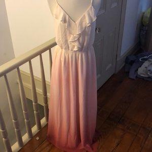 Lauren Conrad pink ombre maxi dress size small